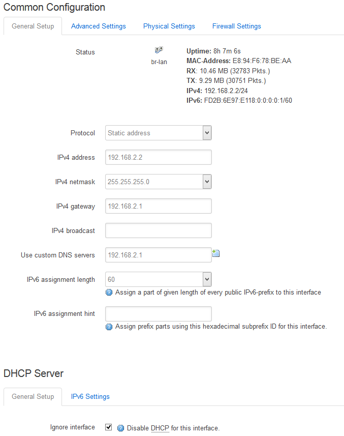 OpenWRT – How to create a public network without using the wan
